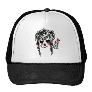 Skinny Bones Girl Skeleton Logo Hats