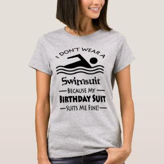 Skinny Dipping Birthday Suit T-Shirt