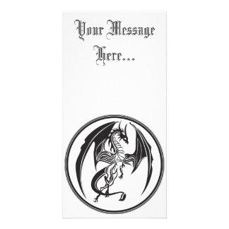 Skinny dragons photo greeting card