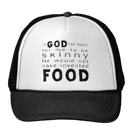 Skinny Food Mesh Hats