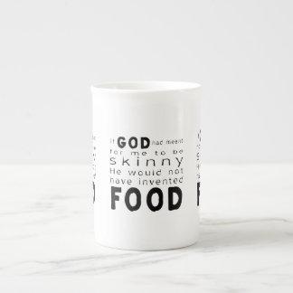 Skinny Food Porcelain Mugs
