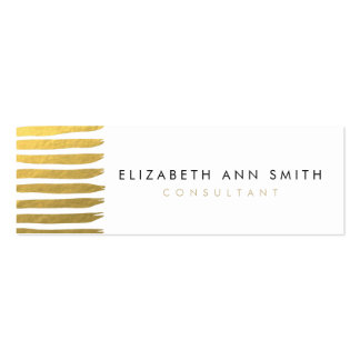 Skinny Gold Effect Chic Business Card