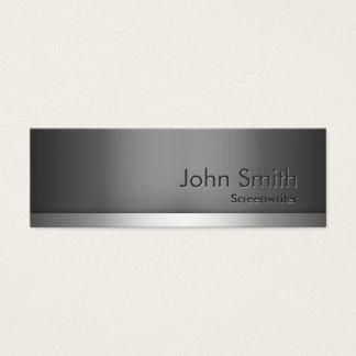 Skinny Metal Screenwriter Business Card