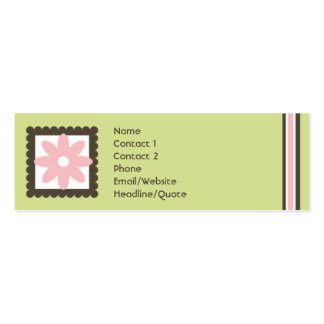Skinny Mini Daisy Stripes Calling / Mommy Card Pack Of Skinny Business Cards