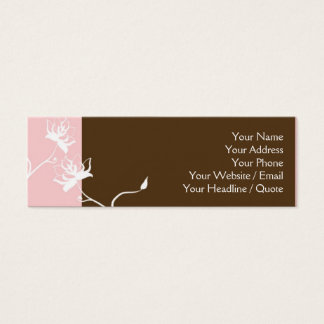 Skinny Mini Modern Chocolate Calling Card