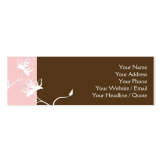 Skinny Mini Modern Chocolate Calling Card Business Card Template