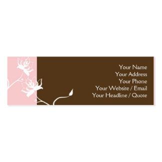 Skinny Mini Modern Chocolate Calling Card Pack Of Skinny Business Cards