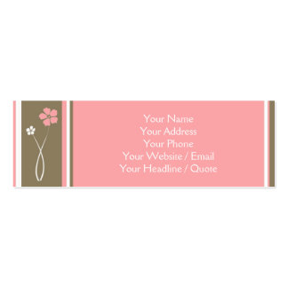 Skinny Mini Modern Floral Calling / Business Card