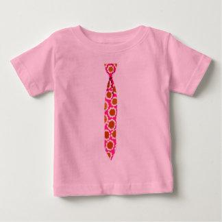 Skinny Pink Floral Necktie Sixties Flowers Tshirts