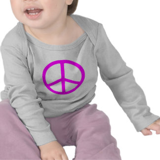 Skinny Pink Peace Sign Tshirts