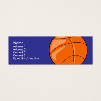Skinny Profile Card Template - Basketball