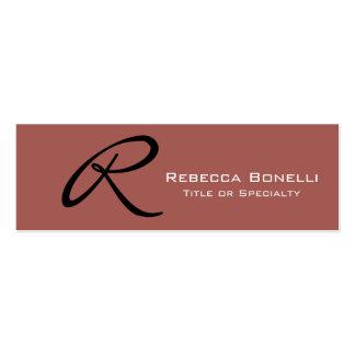 Skinny Redwood Monogram Consultant Business Card