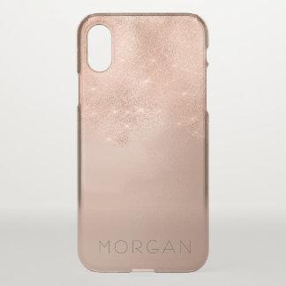 Skinny Rose Gold Glitter Italian Minimalism Name iPhone X Case