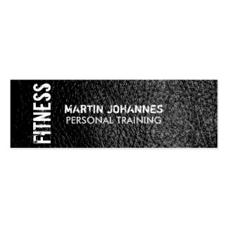 Skinny Size Leather Effect Trainer Business Card