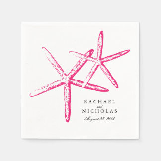 Skinny Starfish | Wedding Paper Napkin