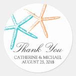 Skinny Starfish Wedding Stickers