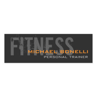 Skinny Stylish Personal Trainer Business Card
