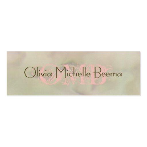 Skinny Warm Pastel Olive Peach Cloud Business Card