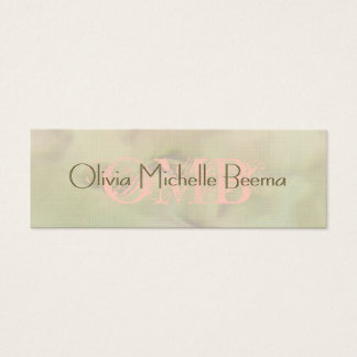 Skinny Warm Pastel Olive Peach Cloud Business Card