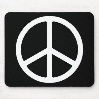 Skinny White Peace Symbol Mouse Mat