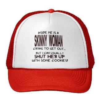 Skinny Woman Inside Hat