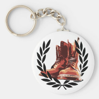 skins boots basic round button key ring