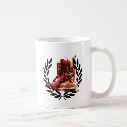 skins boots coffee mug