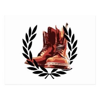 skins boots postcard