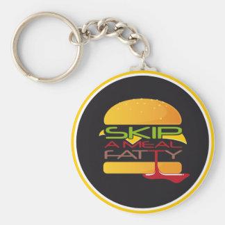 Skip A Meal Fatty Keychain