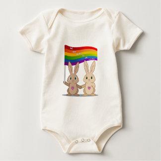 Skip & Pip (aka the Pride Bunnies) Baby Bodysuit