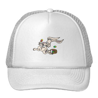 Skipping Easter Bunny Mesh Hat