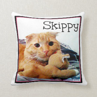 Skippy and Buddy Throw Pillow Cushions