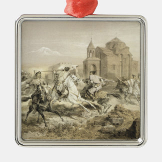 Skirmish of Persians and Kurds in Armenia, plate 1 Christmas Ornament