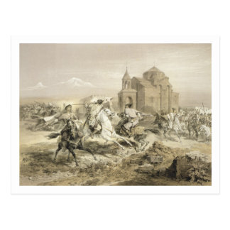Skirmish of Persians and Kurds in Armenia, plate 1 Postcard