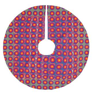 "Skirt 44"" diameter Merry Christmas Tree Decoration Brushed Polyester Tree Skirt"