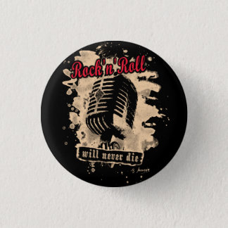 Skirt n roll Microphone - talk 3 Cm Round Badge