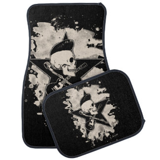 Skirt n roll Skull - bleached Floor Mat