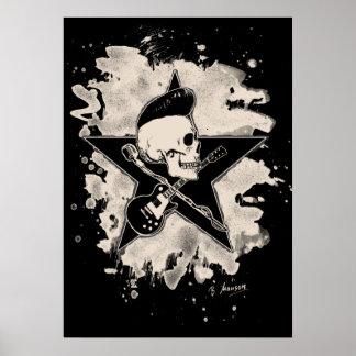 Skirt n roll Skull - bleached Poster