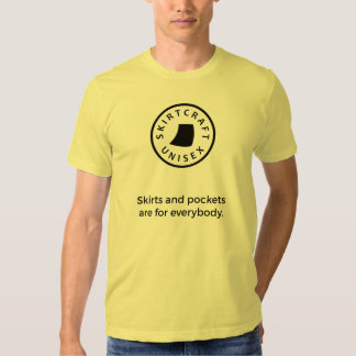Skirts/pockets are for everybody (graphics black) shirt