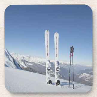 Skis and Ski Poles Beverage Coasters