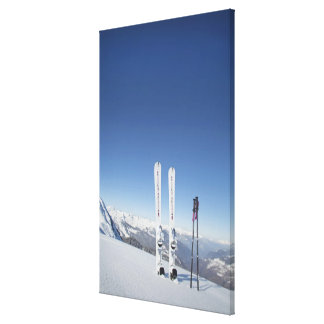 Skis and Ski Poles Canvas Print
