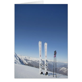 Skis and Ski Poles Card
