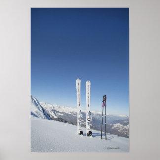 Skis and Ski Poles Poster