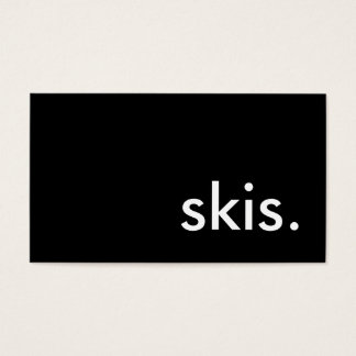 skis. business card