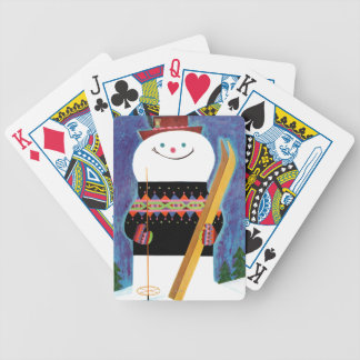 Skis for Snowman Bicycle Playing Cards