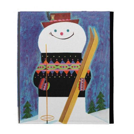 Skis for Snowman iPad Folio Cover