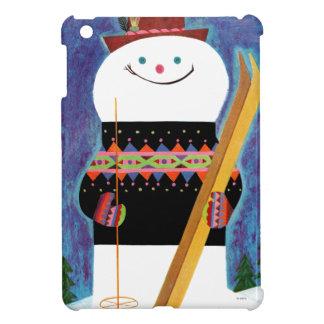 Skis for Snowman iPad Mini Case