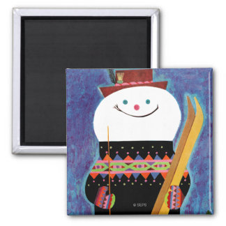 Skis for Snowman Magnet