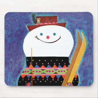 Skis for Snowman Mouse Pad