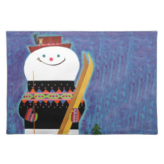 Skis for Snowman Placemat
